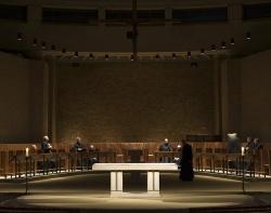 Worth Abbey_Choir during service_DPA Lighting.jpg
